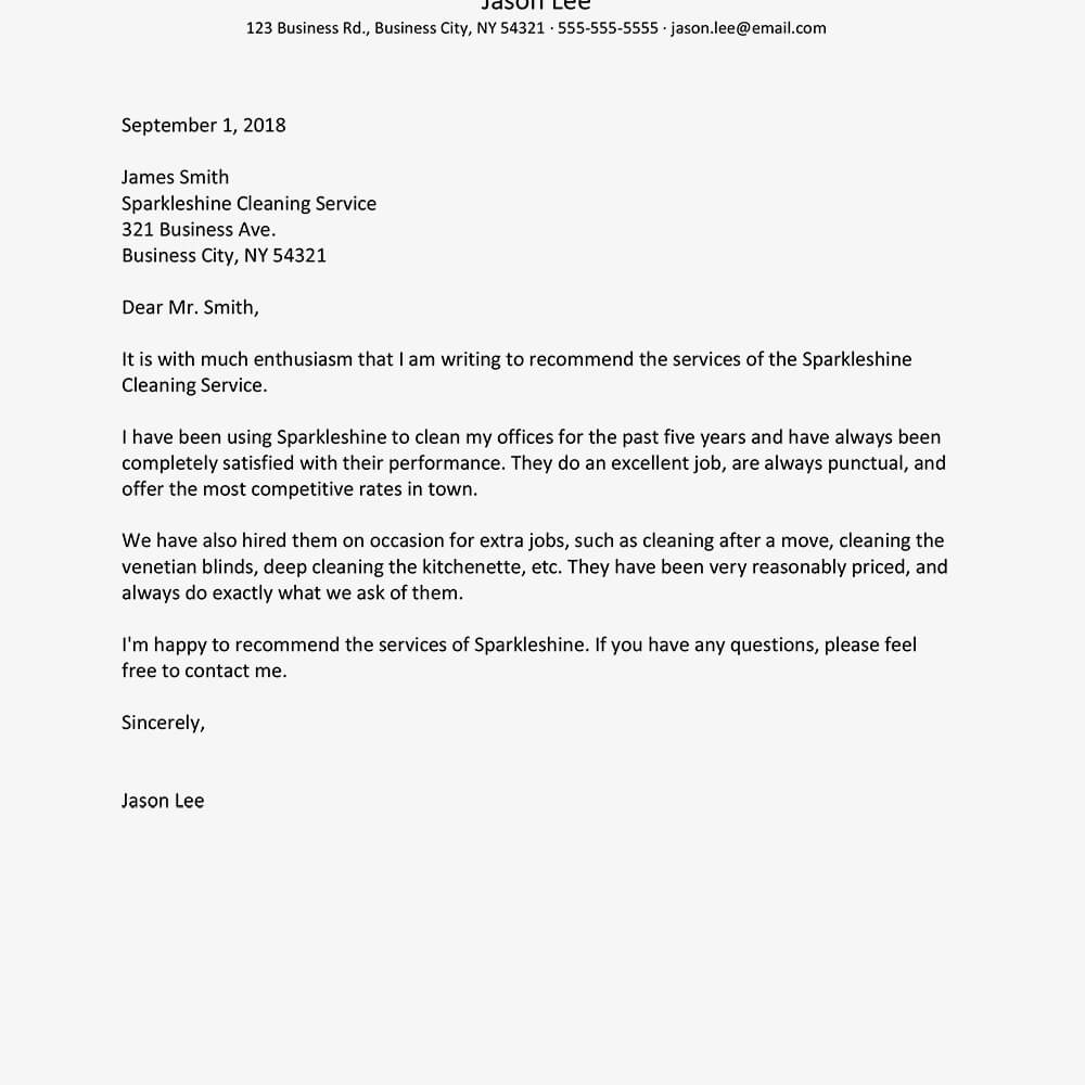 Business Reference Letter Examples Regarding Business Reference Template Word