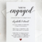 Calligraphy Engagement Invitation Template Script Engagement Intended For Engagement Invitation Card Template