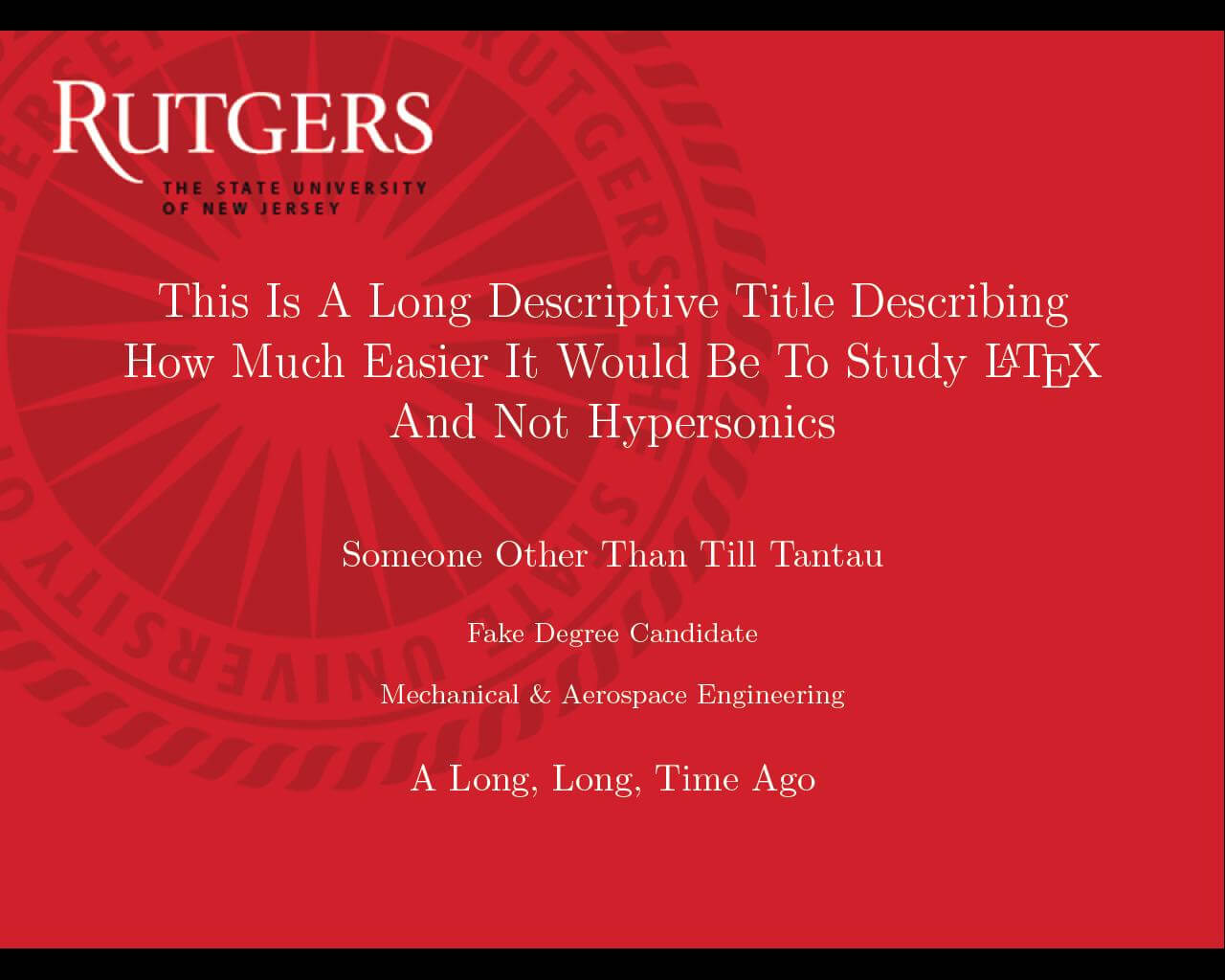 Can I Specify Title Page Customization In A Template Instead In Rutgers Powerpoint Template