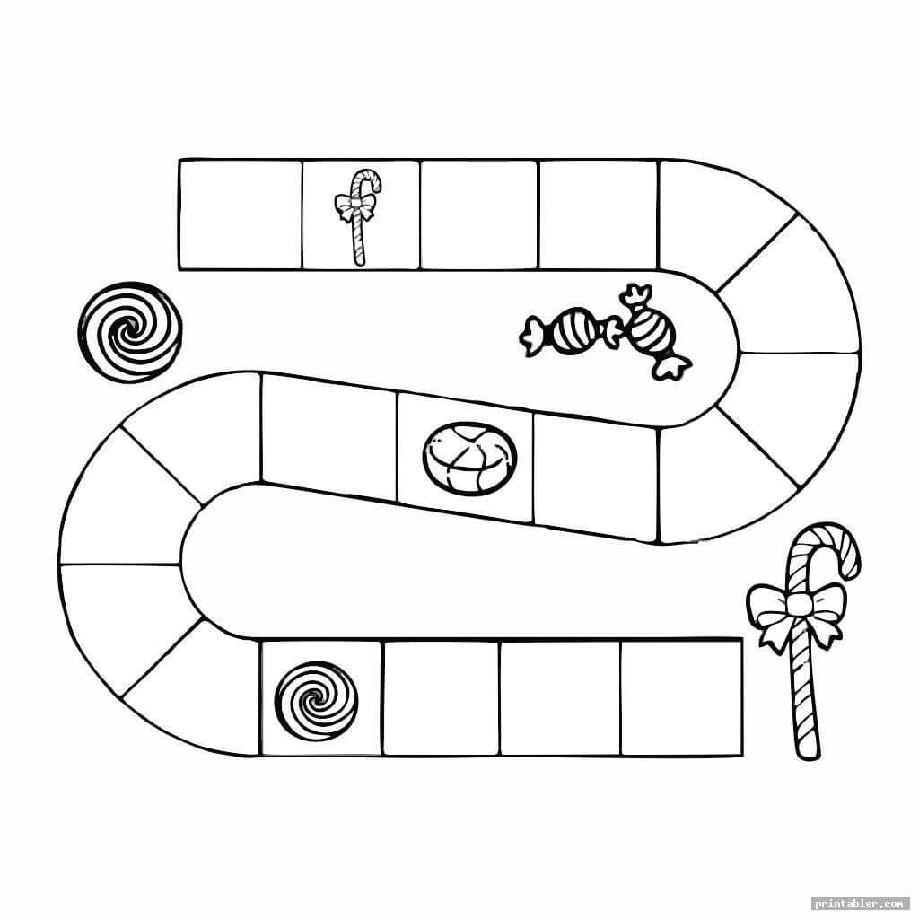 Candyland Board Template Printable - Printabler With Blank Candyland Template