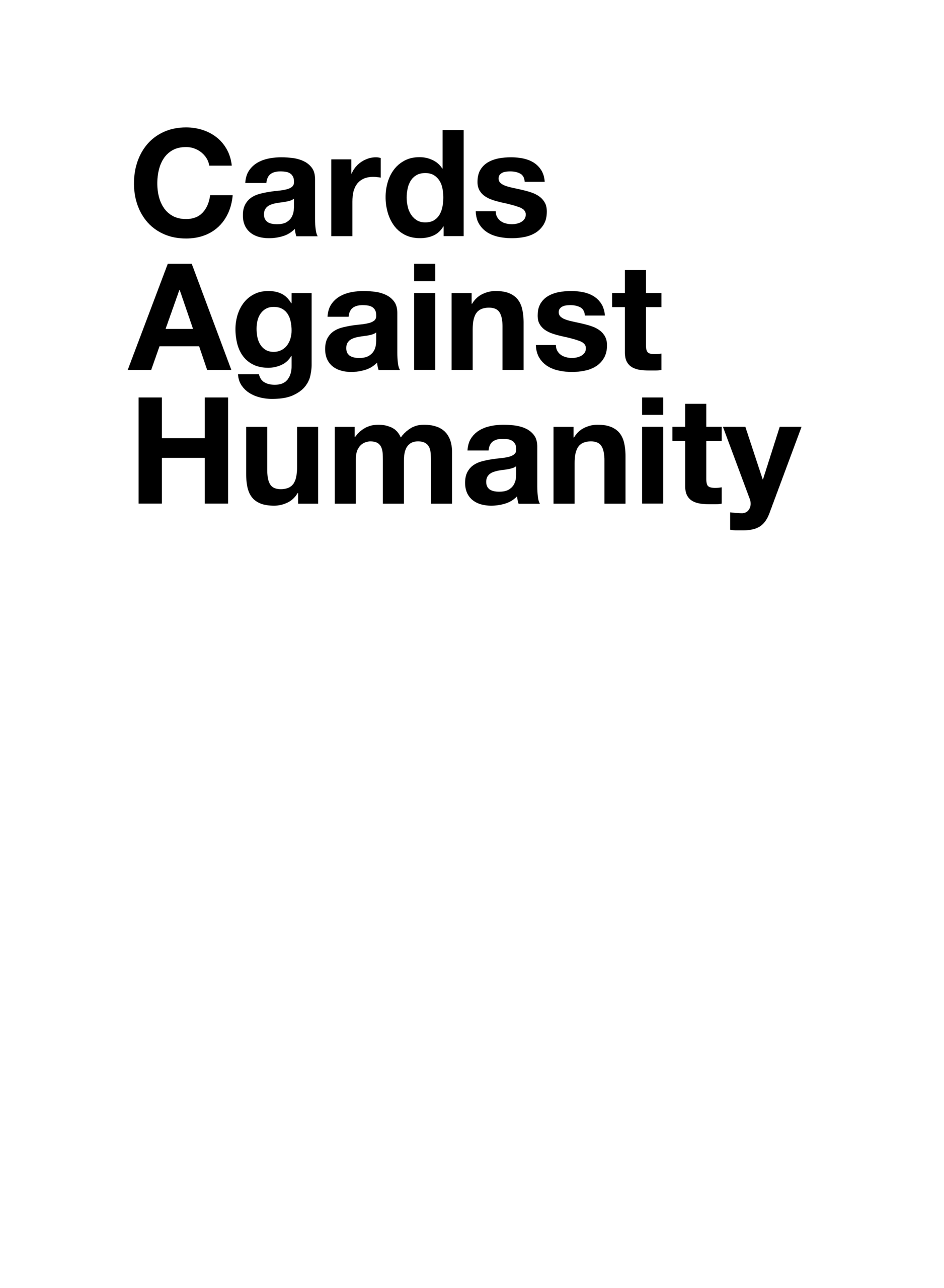 Cards Against Humanity - Card Generator Intended For Cards Against Humanity Template