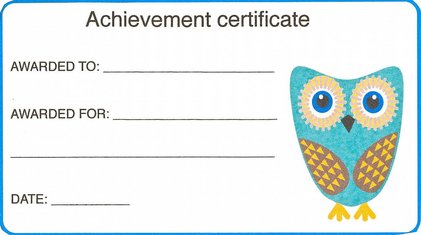 Certificate For Kid Template – Certificate Templates Throughout Certificate Of Achievement Template For Kids