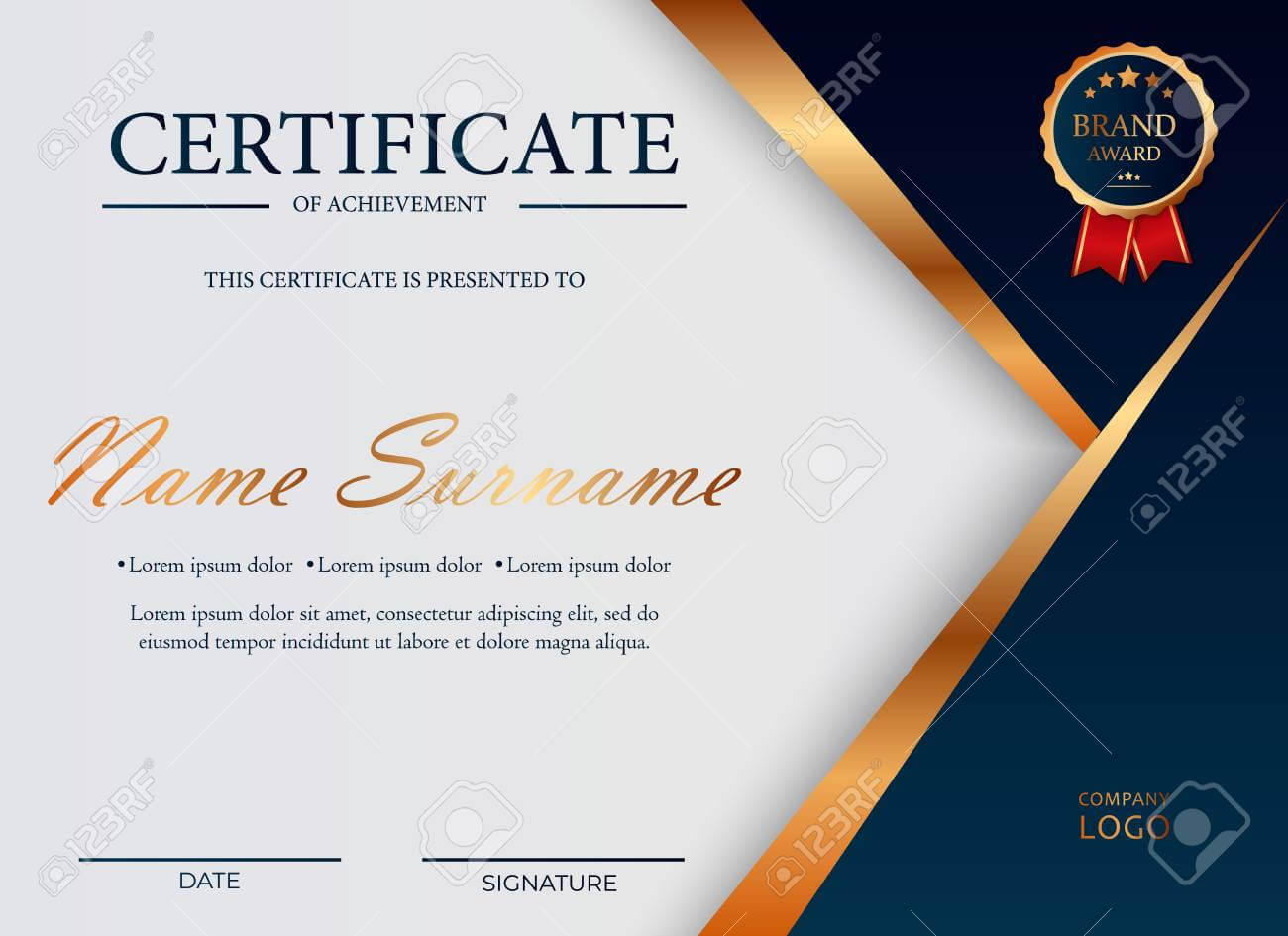Certificate Of Appreciation, Award Diploma Design Template. Certificate.. Regarding Award Certificate Design Template