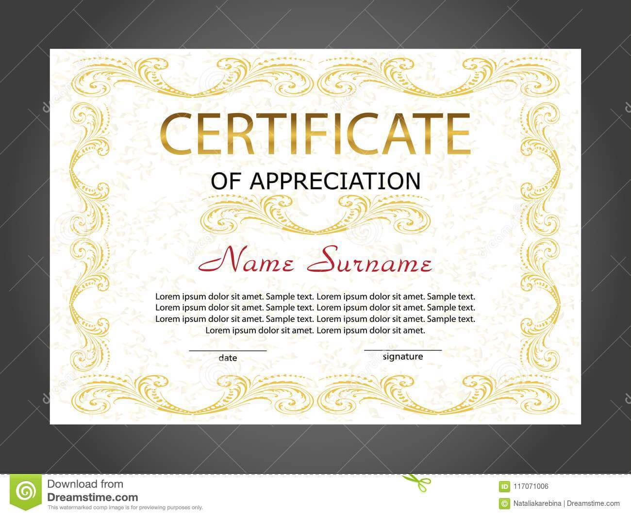 Certificate Of Appreciation, Diploma Template. Reward. Award For Winner Certificate Template