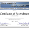 Certificate Of Attendance Conference Template ] – Of Intended For Attendance Certificate Template Word