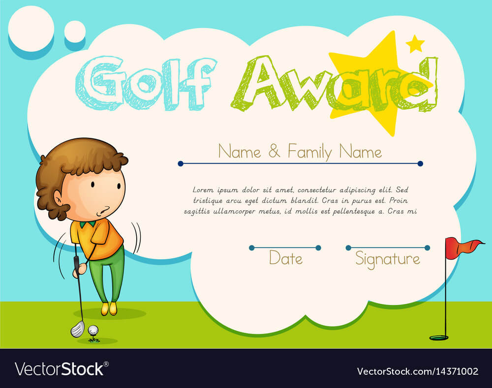 Certificate Template For Golf Award With Golf Certificate Template Free