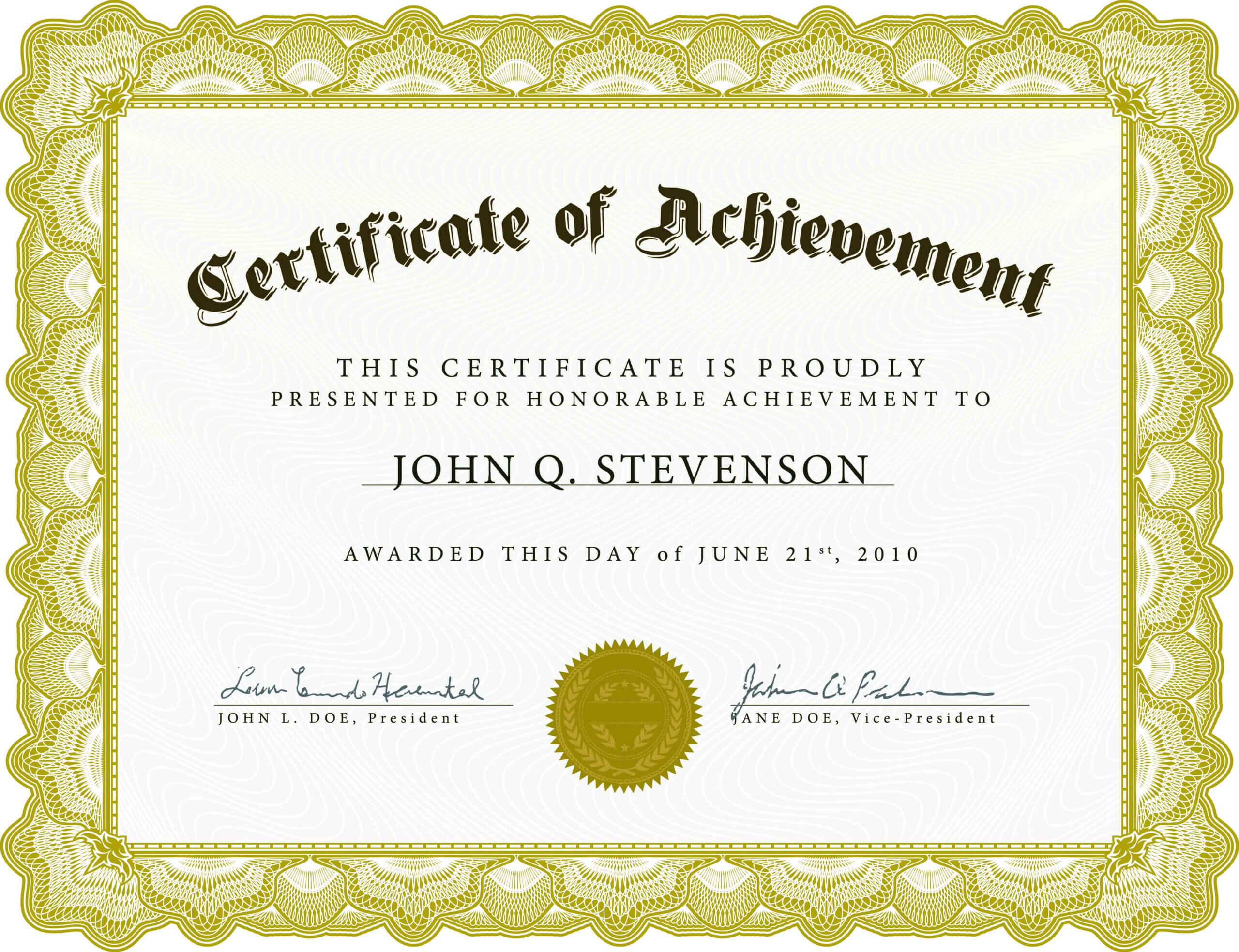 Certificate Templates Printable Doc Pdf  With Regard To Anniversary Certificate Template Free