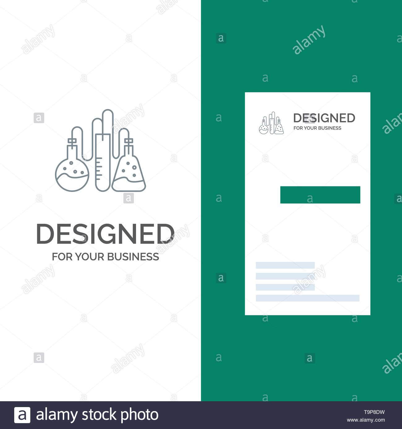 Chemical, Dope, Lab, Science Grey Logo Design And Business Regarding Dope Card Template
