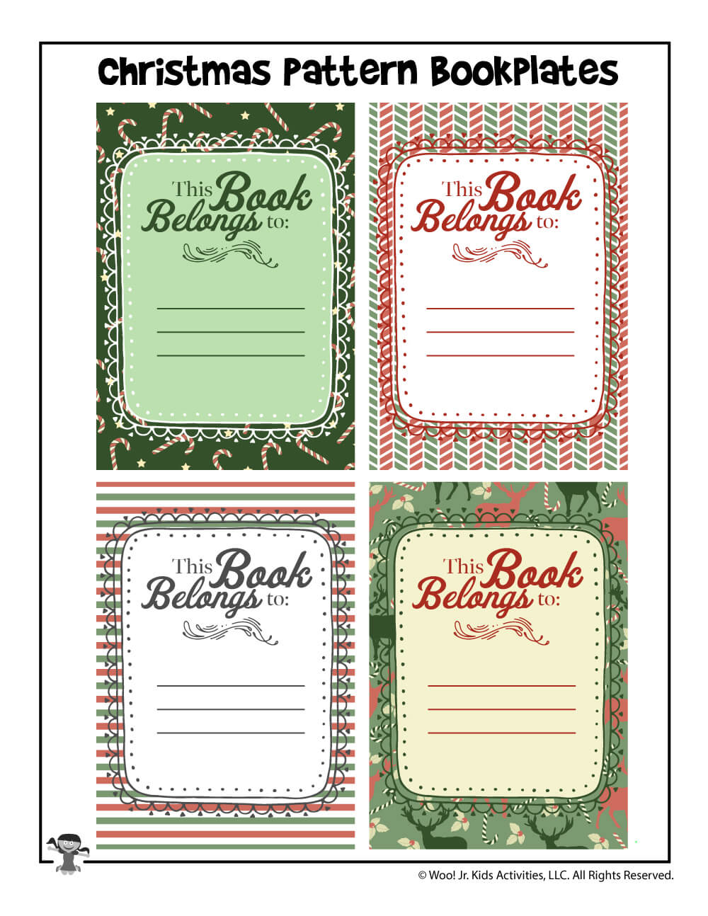 Christmas Gift Printable Bookplates | Woo! Jr. Kids Activities With Regard To Bookplate Templates For Word