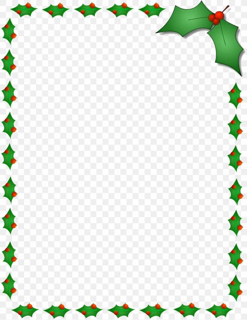 Christmas Santa Claus Microsoft Word Template Clip Art, Png In Christmas Border Word Template