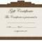 Clipart Gift Certificate Template Regarding Graduation Gift Certificate Template Free