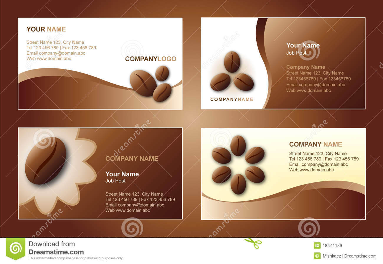 Coffee Business Card Template Stock Vector – Illustration Of Intended For Coffee Business Card Template Free