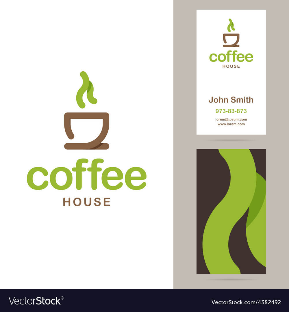 Coffee House Logo And Business Card Templates Regarding Coffee Business Card Template Free