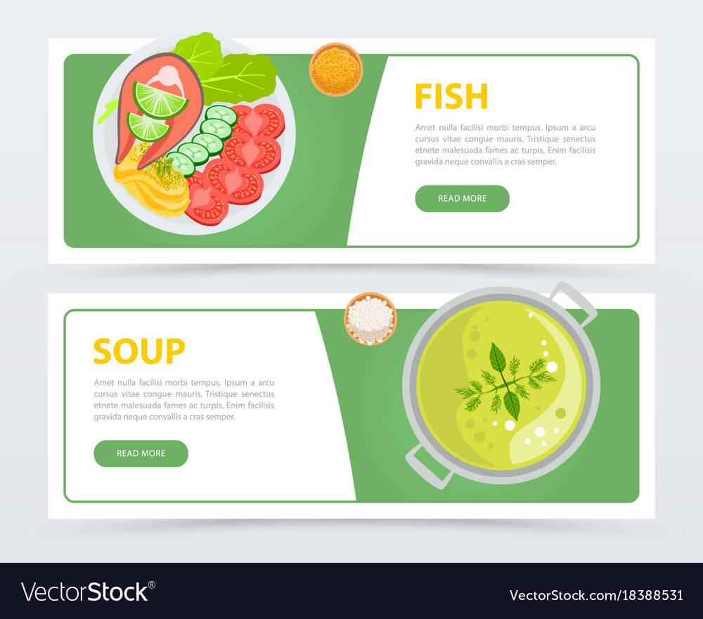 Colorful Horizontal Food Banner Template Regarding Food Banner Template