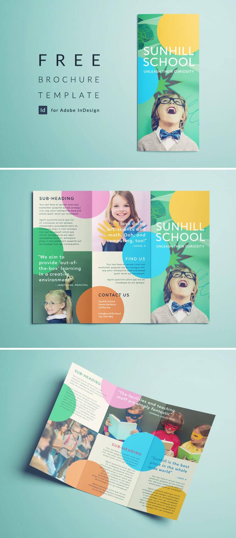 Colorful School Brochure - Tri Fold Template   Download Free For Play School Brochure Templates
