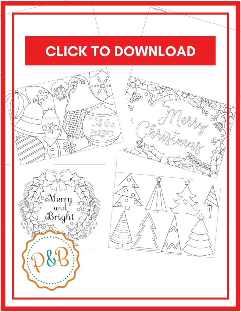 Coloring Pages : Coloring Pages Freehristmasard Sheets Within Template For Cards To Print Free