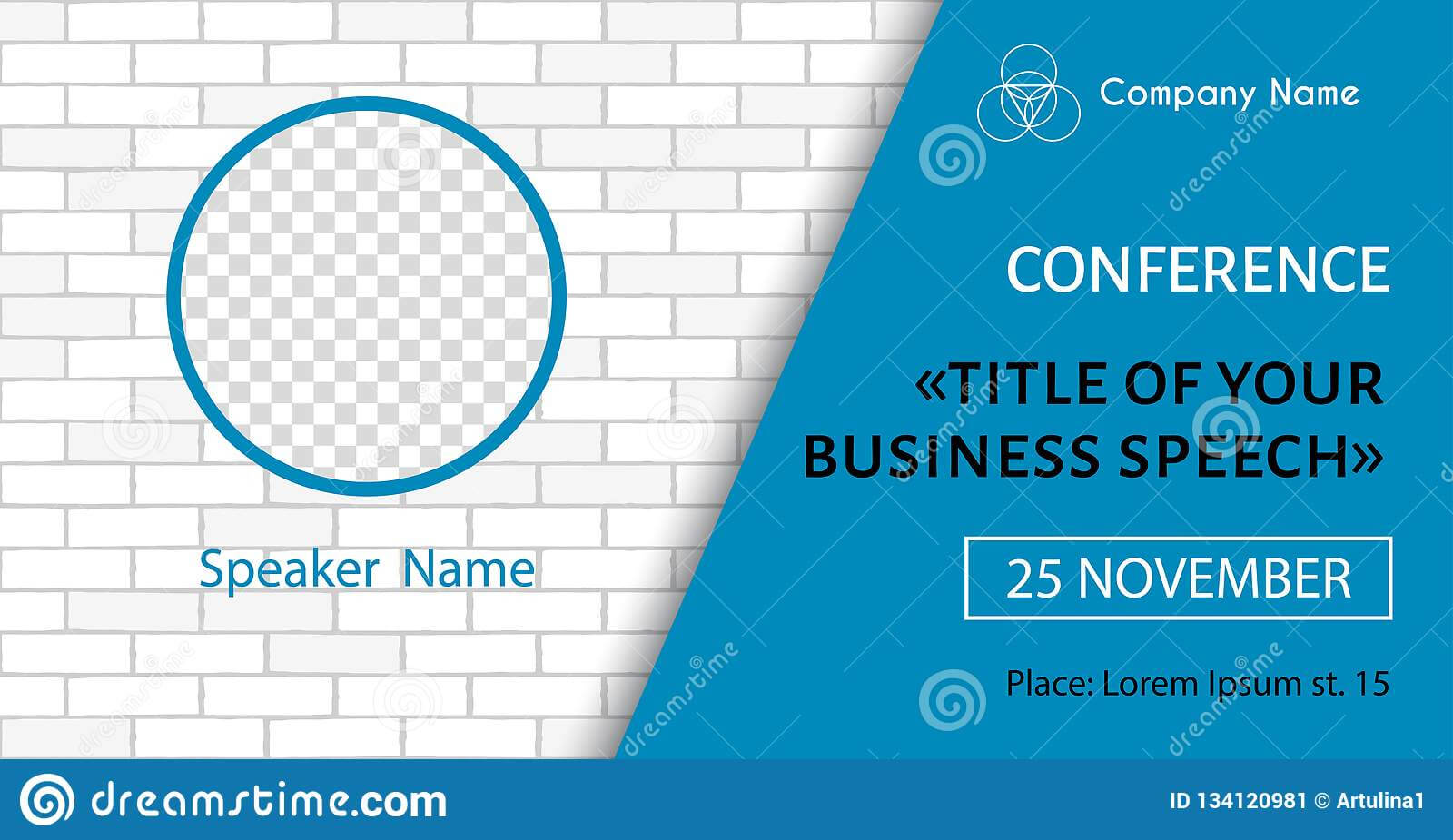 Corporate Announcement Poster Template. Vector Flyer For Within Event Banner Template