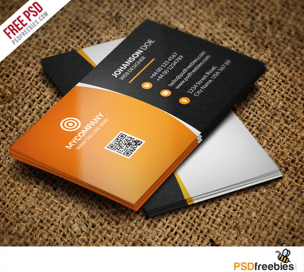 Corporate Business Card Bundle Free Psd | Psdfreebies With Regard To Free Psd Visiting Card Templates Download