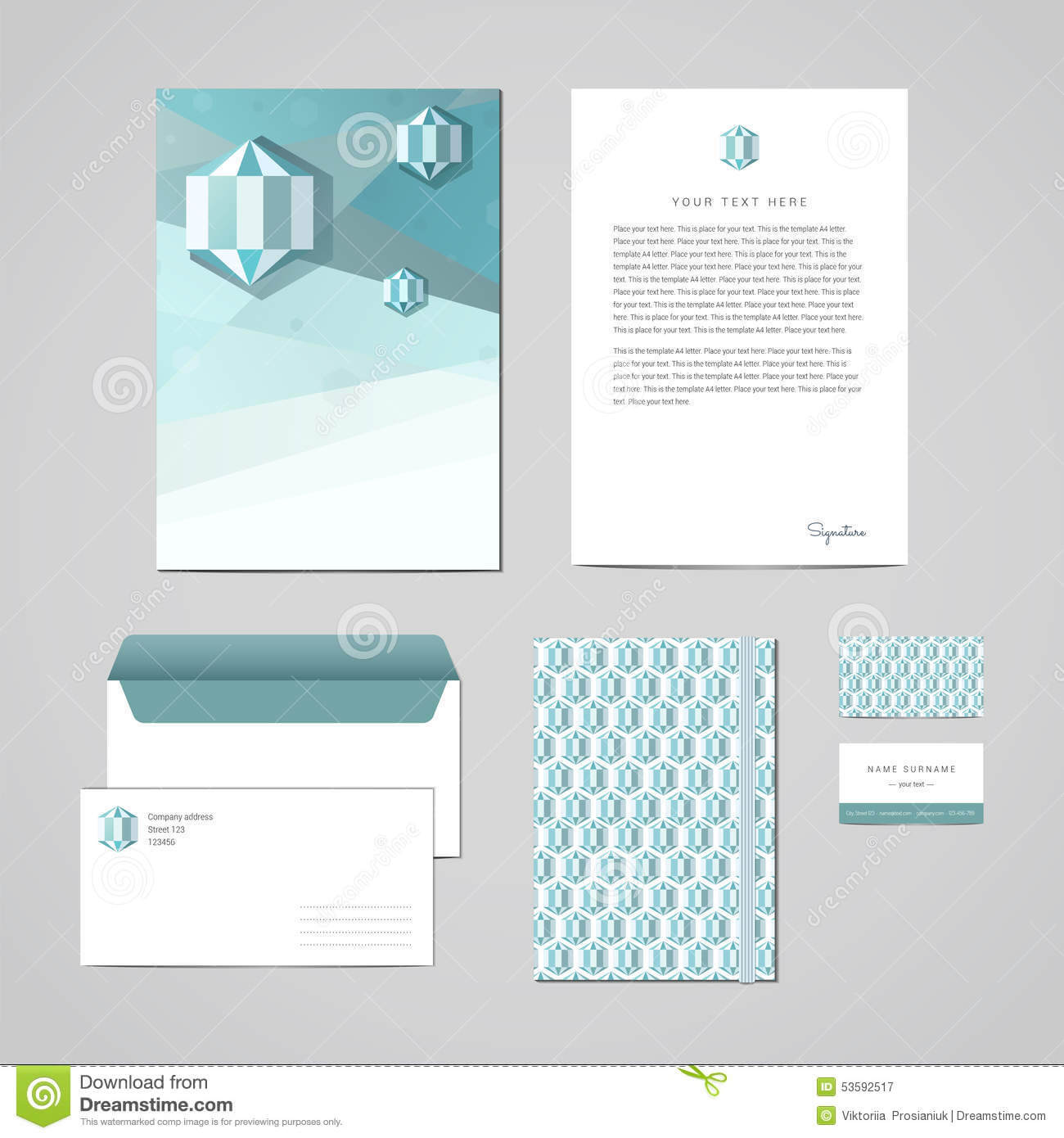 Corporate Identity Design Template. Documentation For Regarding Business Card Letterhead Envelope Template
