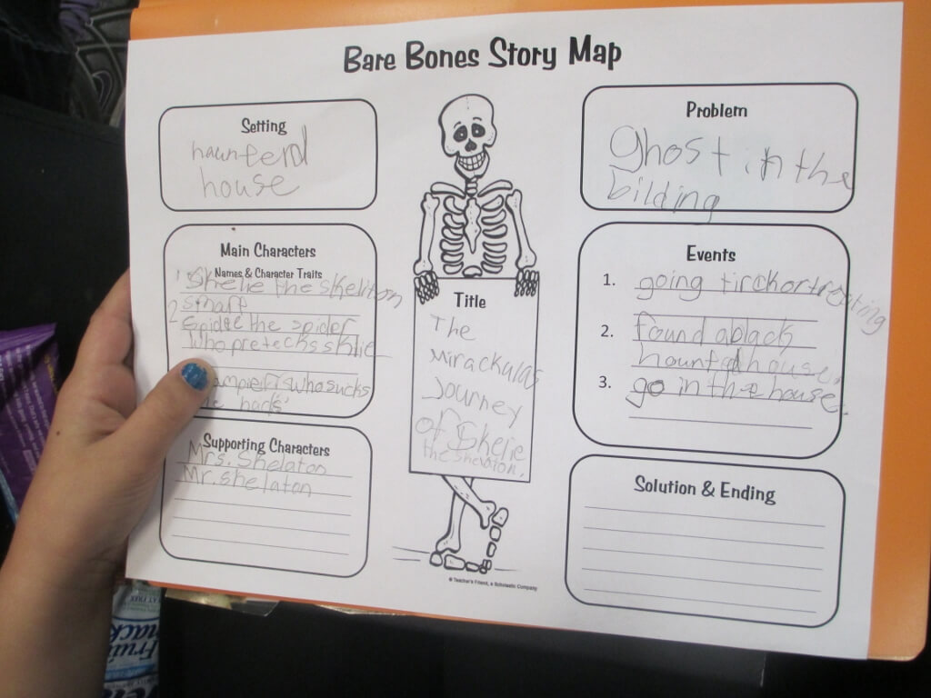 Crafty Symmetric Skeletons | Scholastic Within Story Skeleton Book Report Template