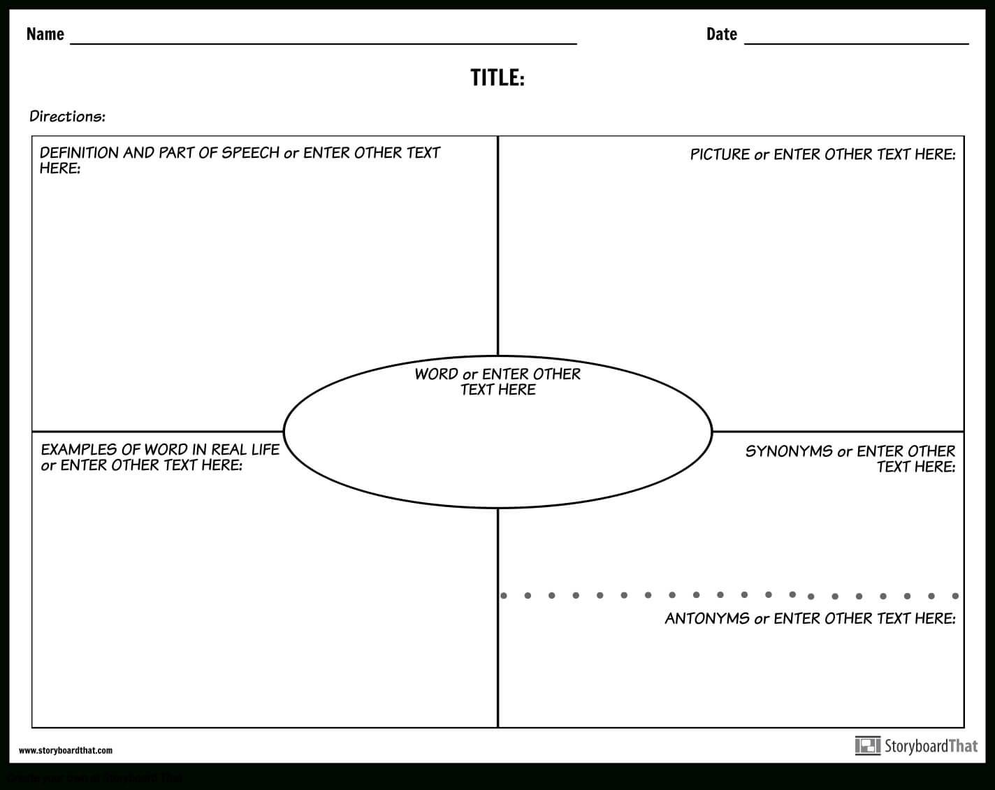 Create Vocabulary Worksheets | Vocabulary Templates Pertaining To Vocabulary Words Worksheet Template