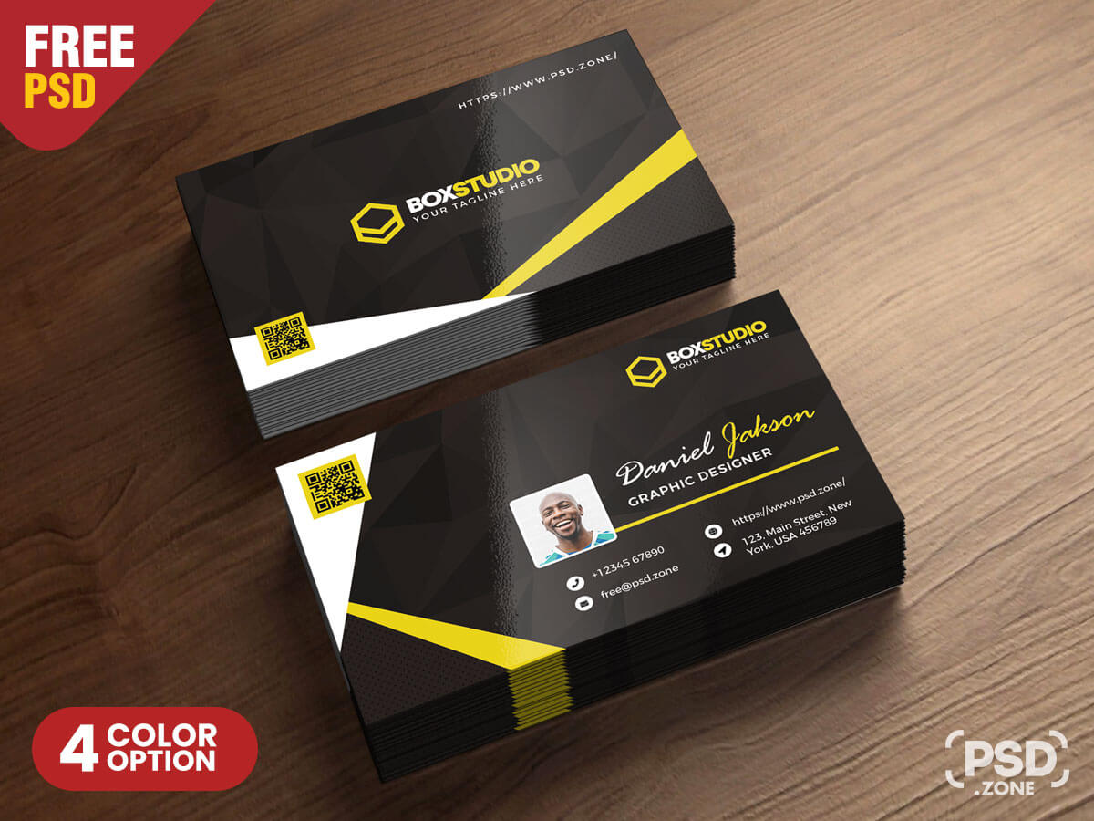 Creative Business Card Template Psd – Psd Zone Throughout Psd Name Card Template