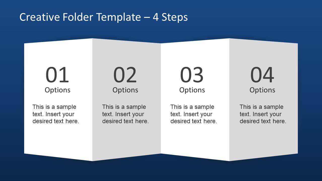 Creative Folder Paper With 4 Fold Brochure – Slidemodel In Brochure Folding Templates