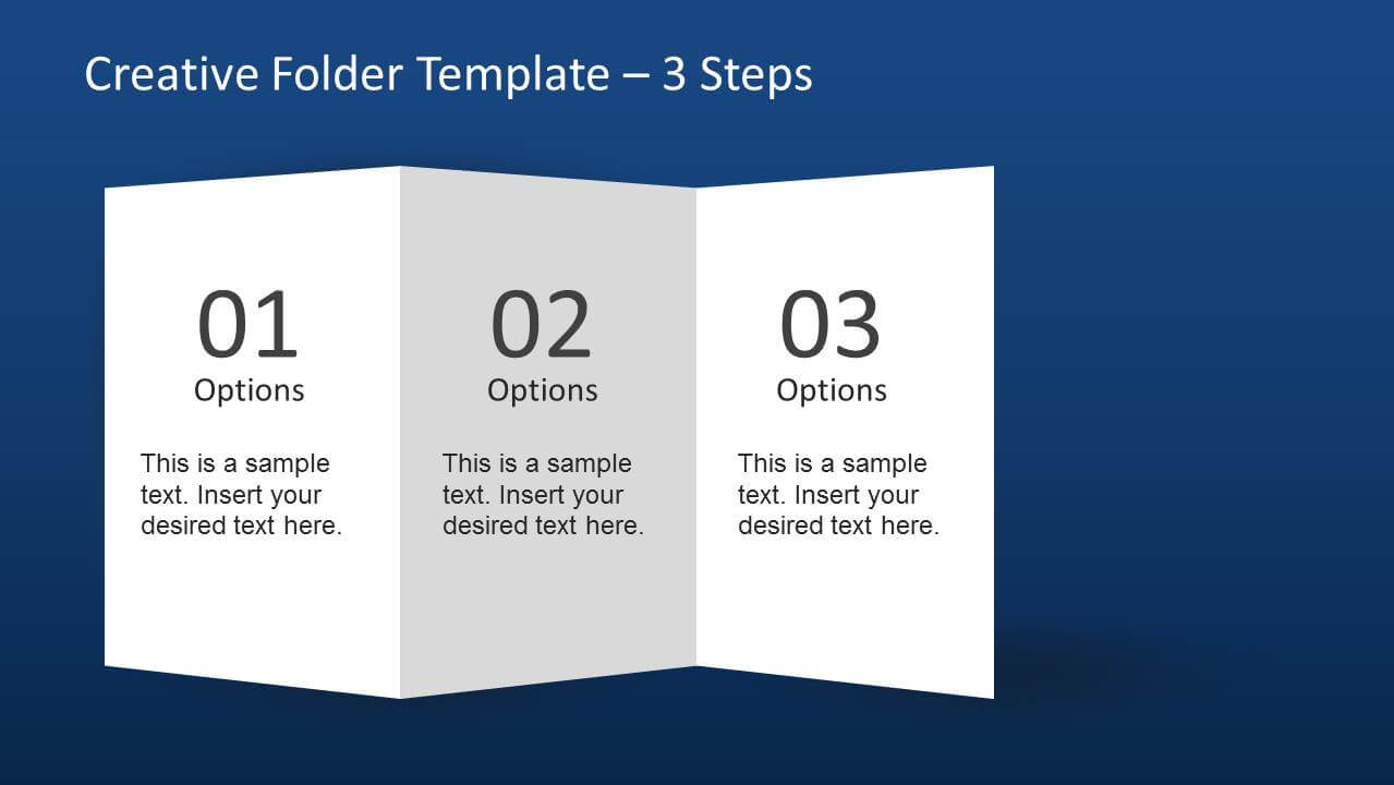 Creative Folder Template Layout For Powerpoint With 4 Fold Brochure Template