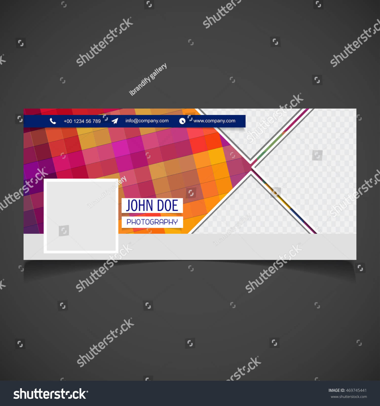 Creative Photography Banner Template Place Image Stock Intended For Photography Banner Template