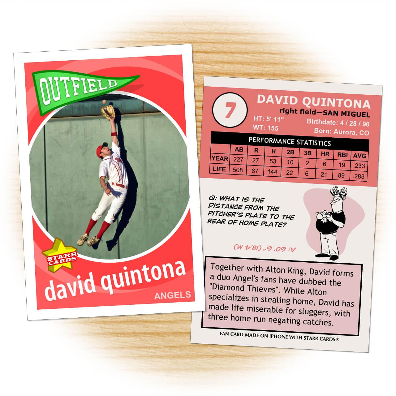 Custom Baseball Cards - Retro 60™ Series Starr Cards With Custom Baseball Cards Template