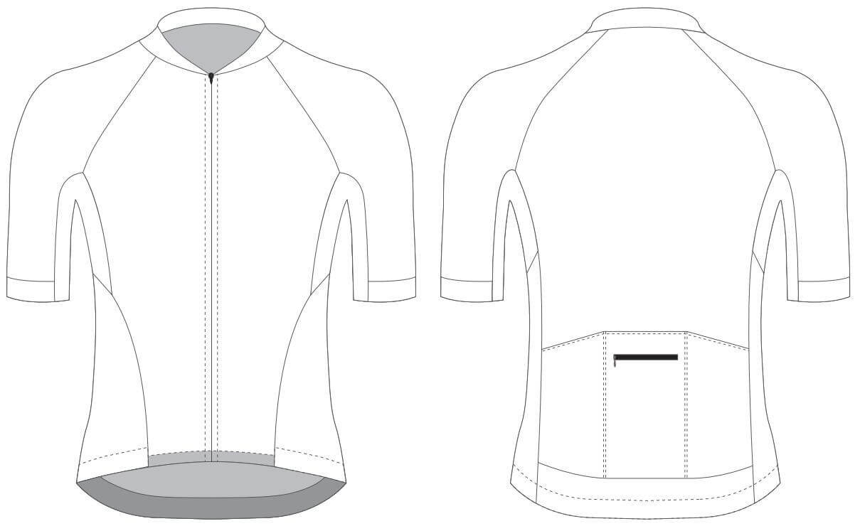 Custom Blank Cycling Jersey Design Template - Cyclingbox For Blank Cycling Jersey Template