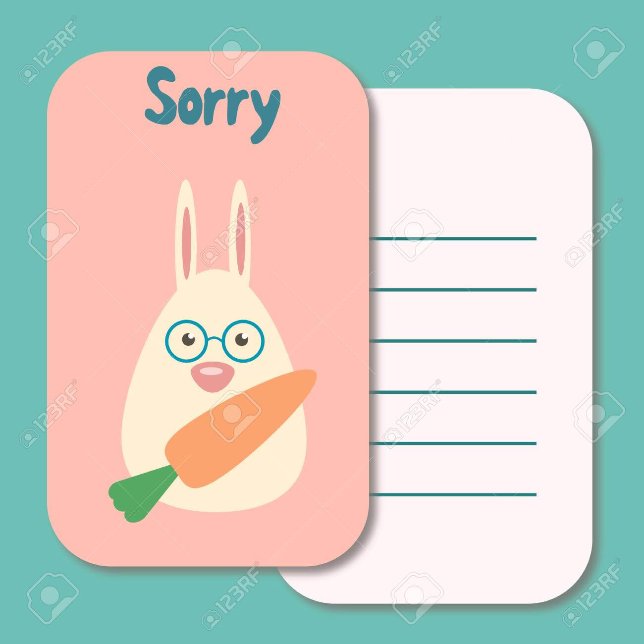 Cute Printable Illustration Sorry Card Typography Design Background.. Pertaining To Sorry Card Template
