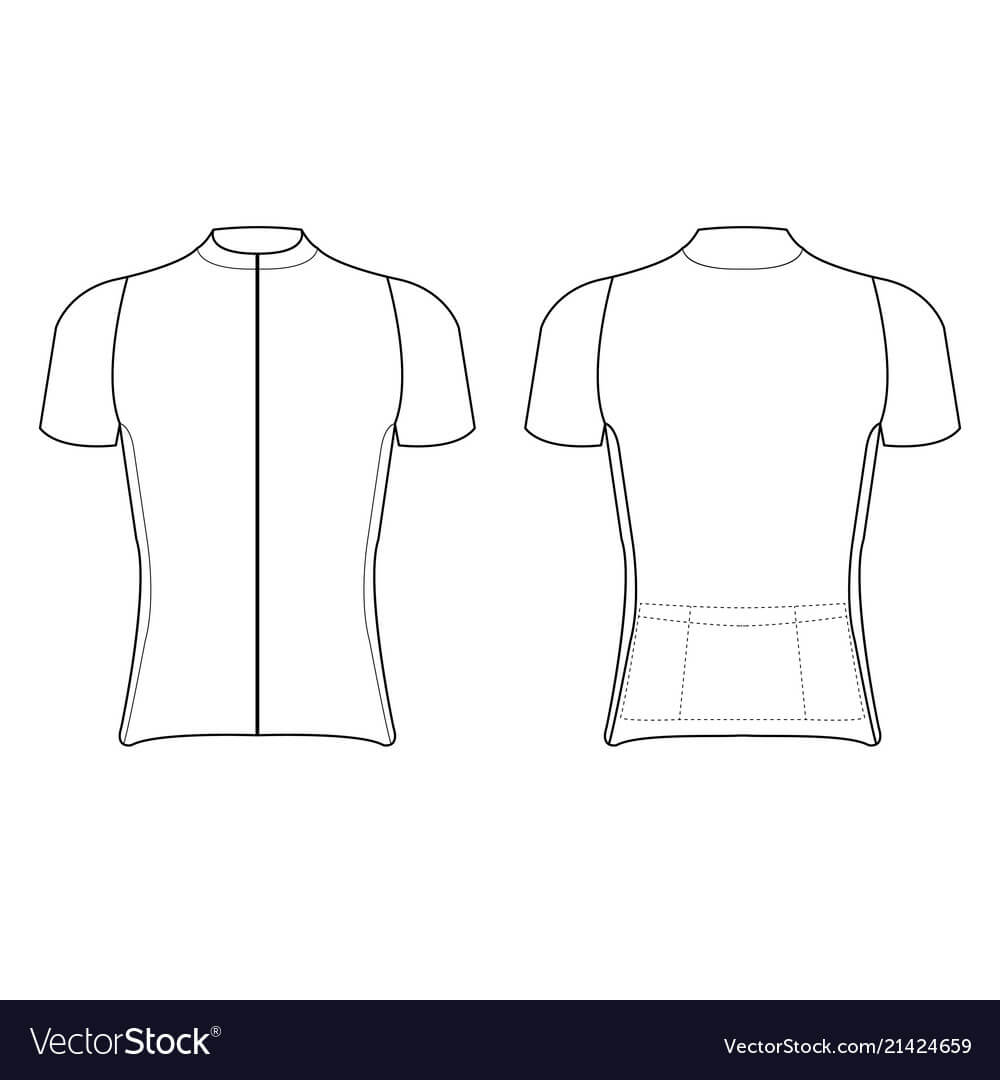 Cycling Jersey Design Blank Of Cycling Jersey In Blank Cycling Jersey Template