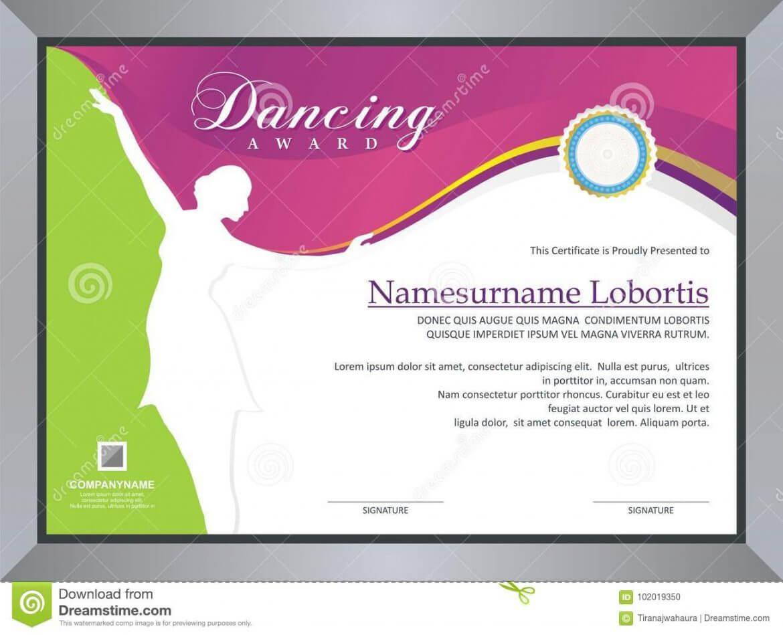 Dance Certificate Template Regarding Dance Certificate Template