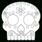 Day Of The Dead Masks Sugar Skulls Free Printable – Paper In Blank Sugar Skull Template