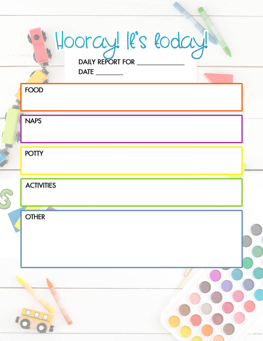 Daycare Activity Sheet Worksheets Planning Sheets For With Regard To Daycare Infant Daily Report Template
