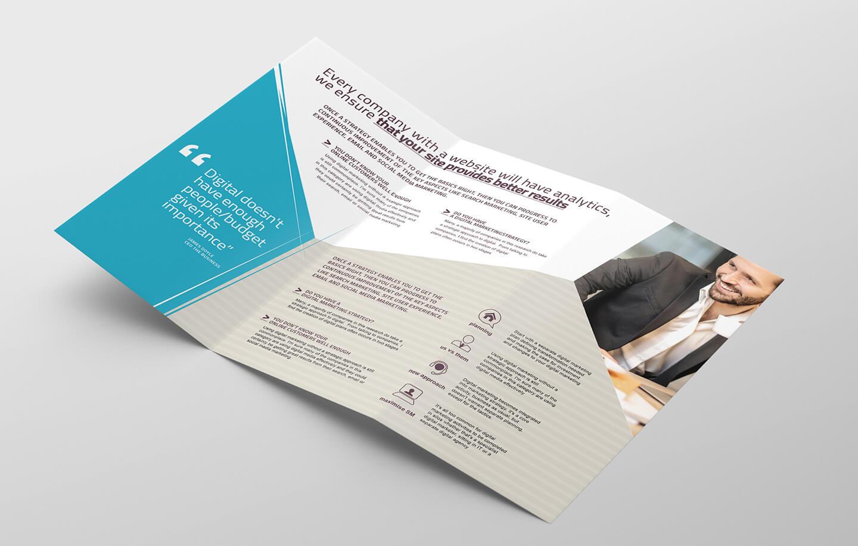 Digital Marketing Tri Fold Brochure Template In Psd, Ai Throughout Social Media Brochure Template