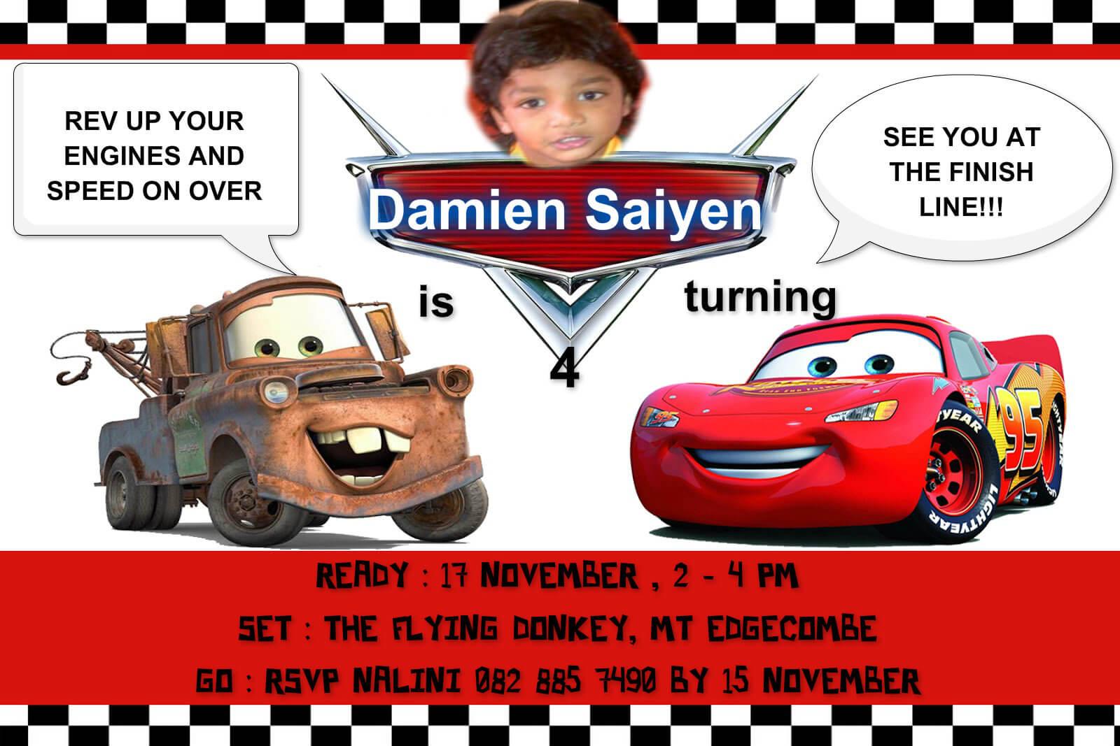Disney Cars Birthday Invitations (#967986) – Hd Wallpaper In Cars Birthday Banner Template