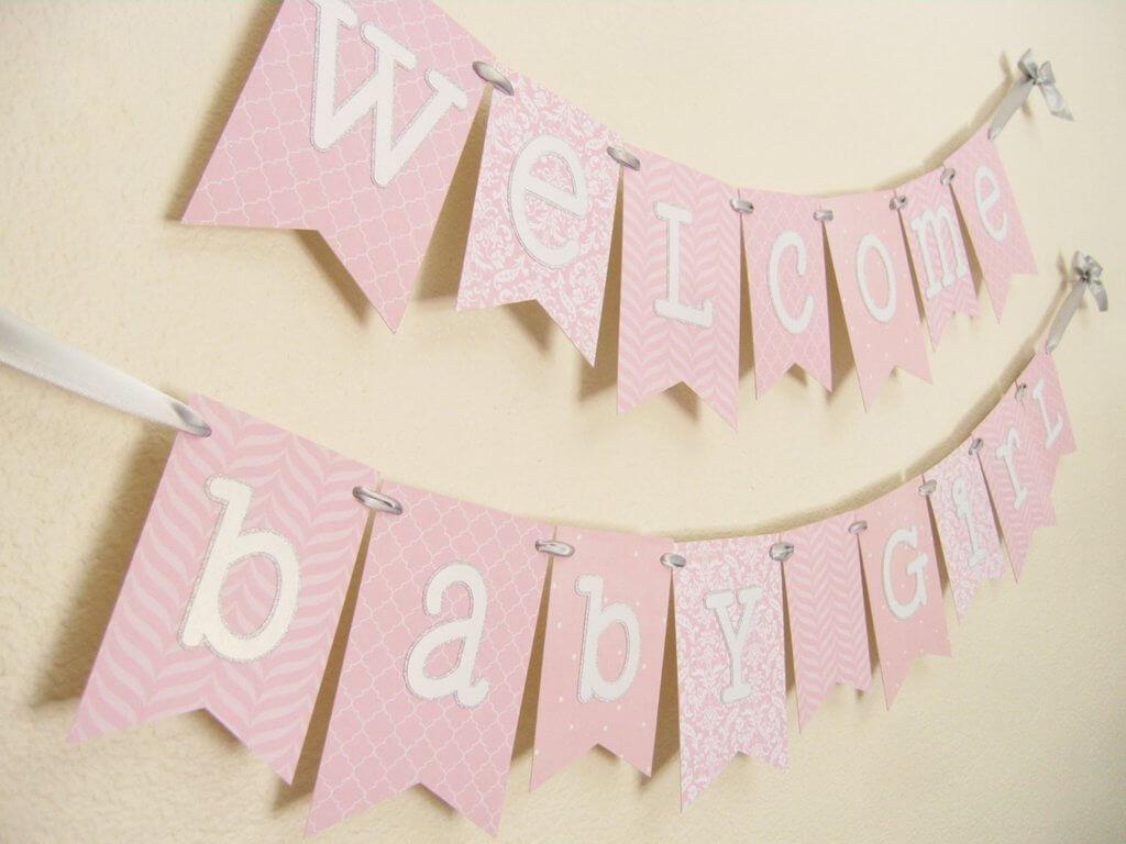 Diy Baby Shower Banner Template 7 Best Samples Templates Throughout Diy Baby Shower Banner Template