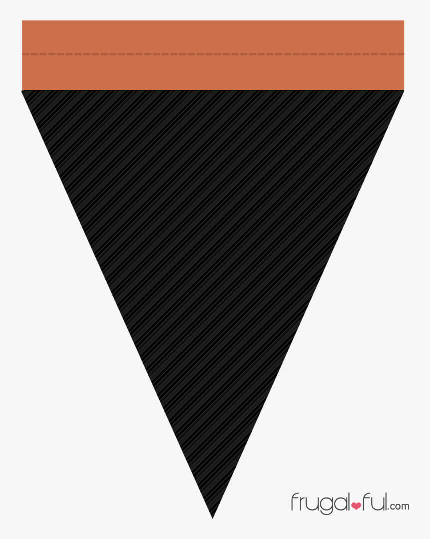 Diy Free Printable Halloween Triangle Banner Template In Triangle Banner Template Free