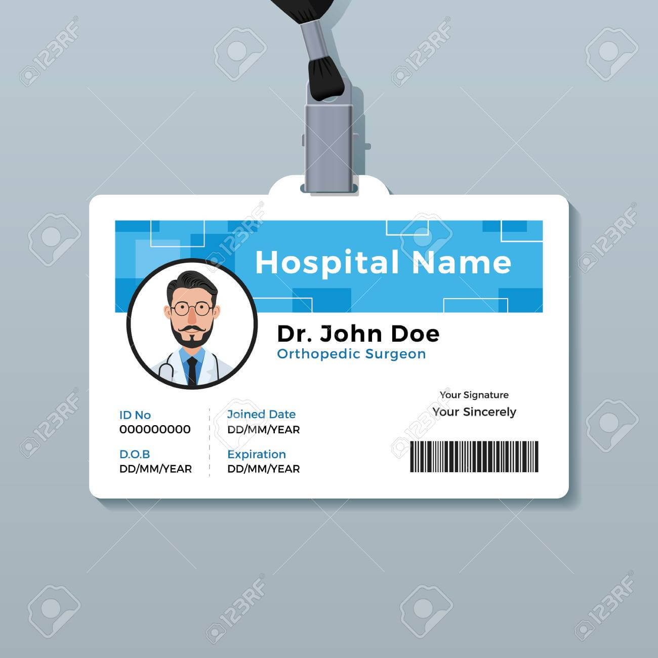 Doctor Id Badge. Medical Identity Card Template Pertaining To Doctor Id Card Template