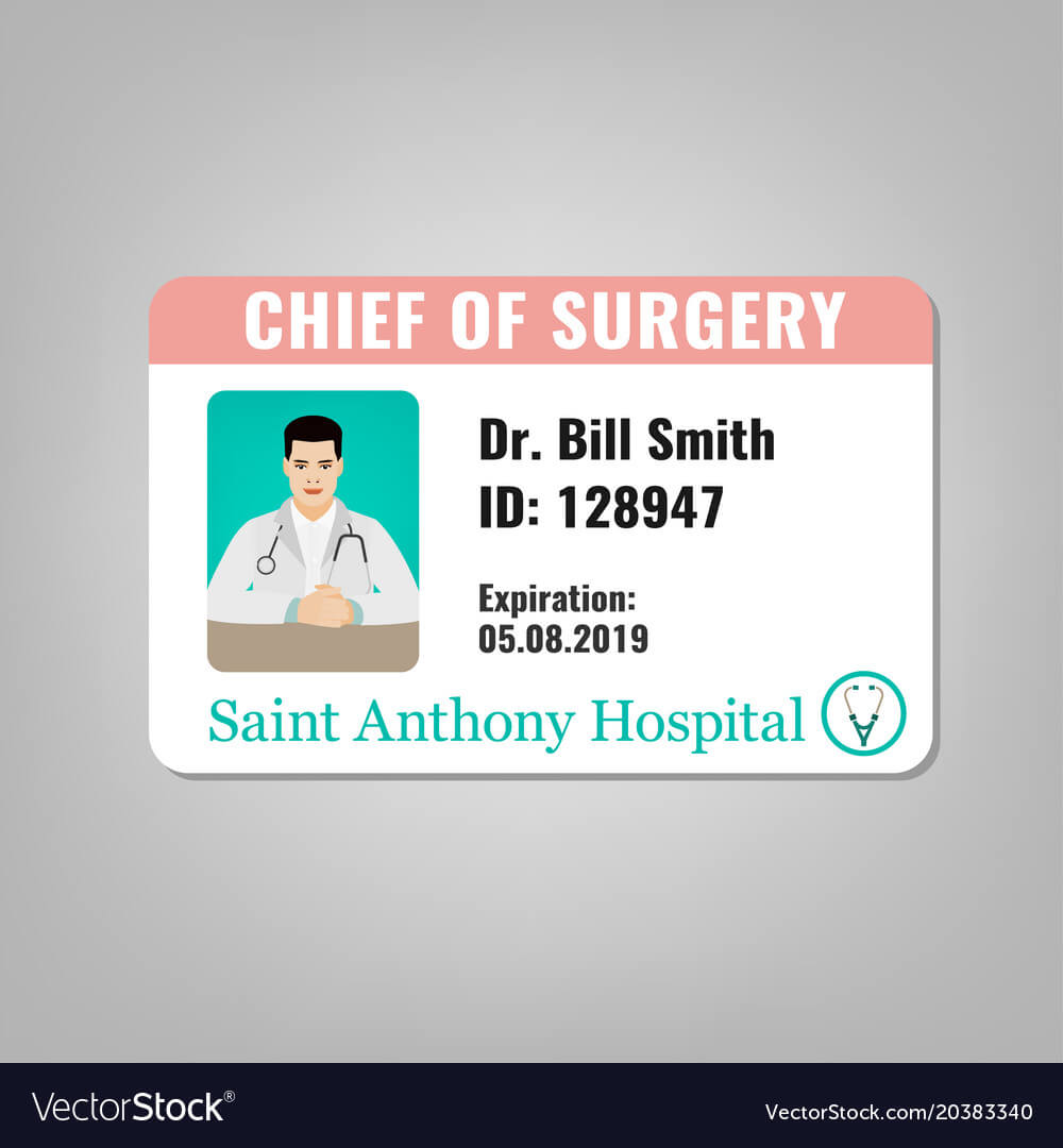 Doctor Id Card With Regard To Doctor Id Card Template
