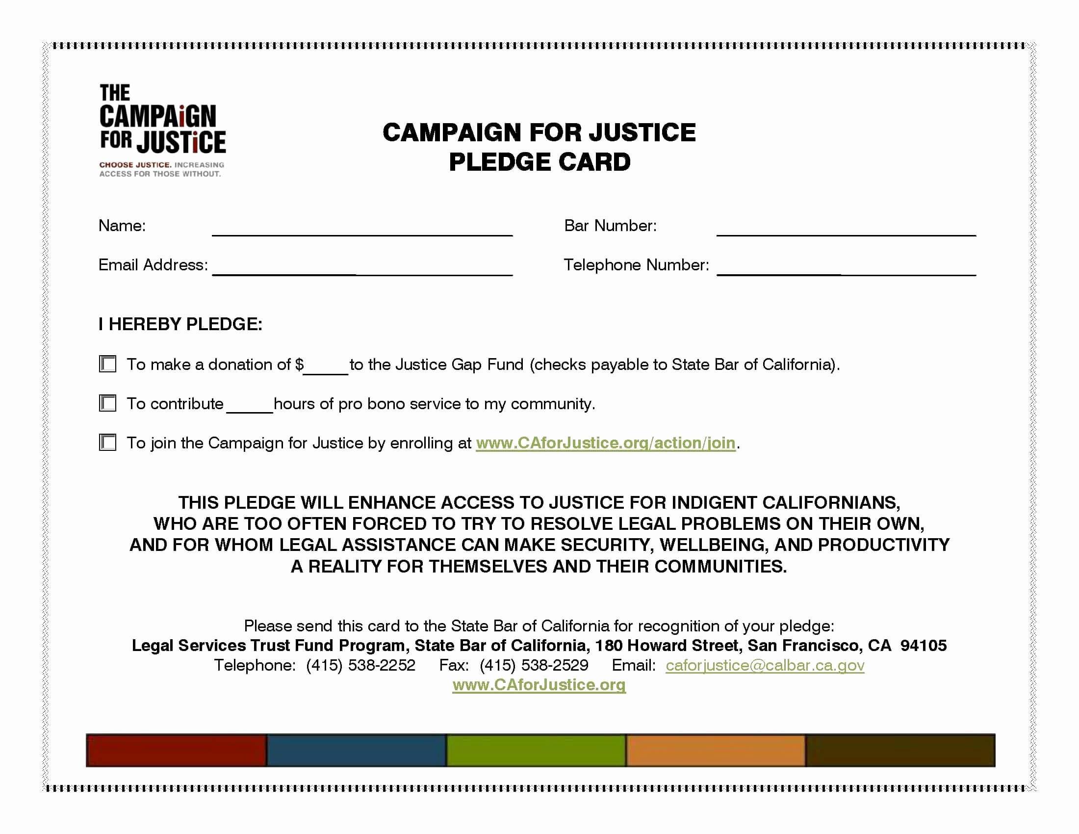 Donation Card Sample – Neyar.kristinejaynephotography Pertaining To Fundraising Pledge Card Template