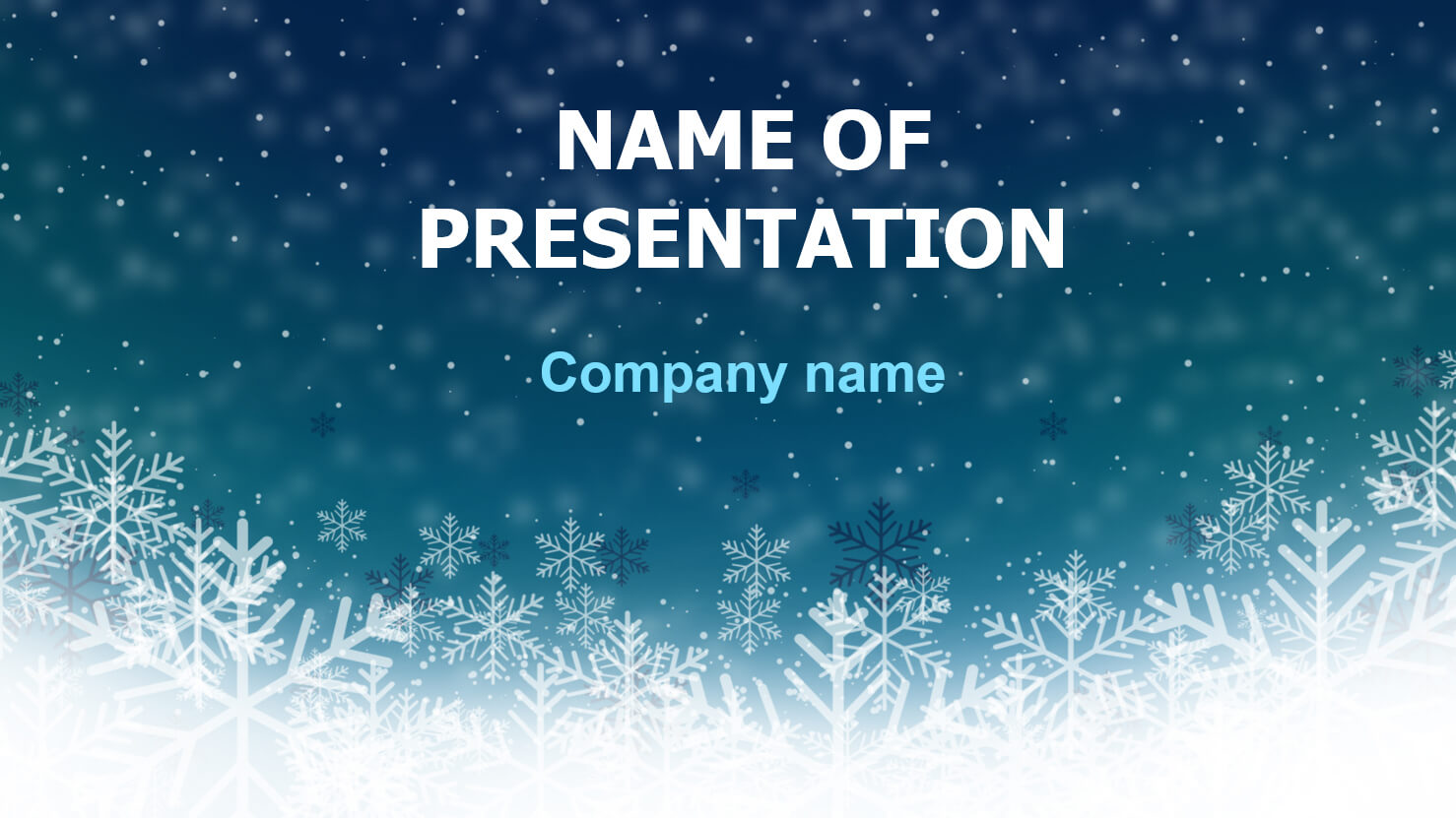 Download Free Deep Snow Powerpoint Template And Theme For Inside Snow Powerpoint Template