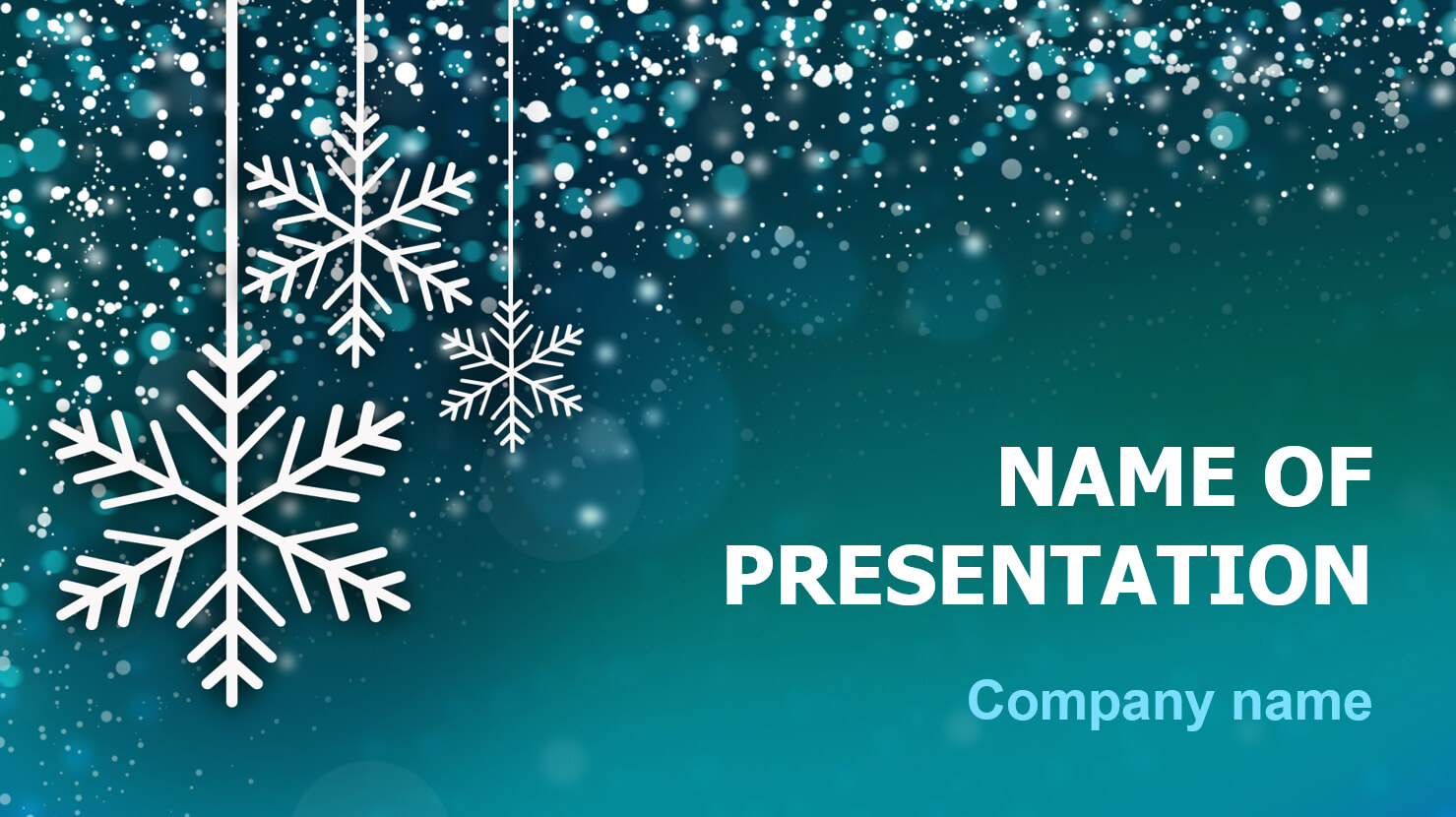 Download Free Snowing Snow Powerpoint Theme For Presentation Within Snow Powerpoint Template