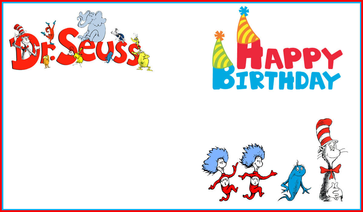 Dr Seuss Free Printable Invitation Templates | Invitations Pertaining To Dr Seuss Birthday Card Template