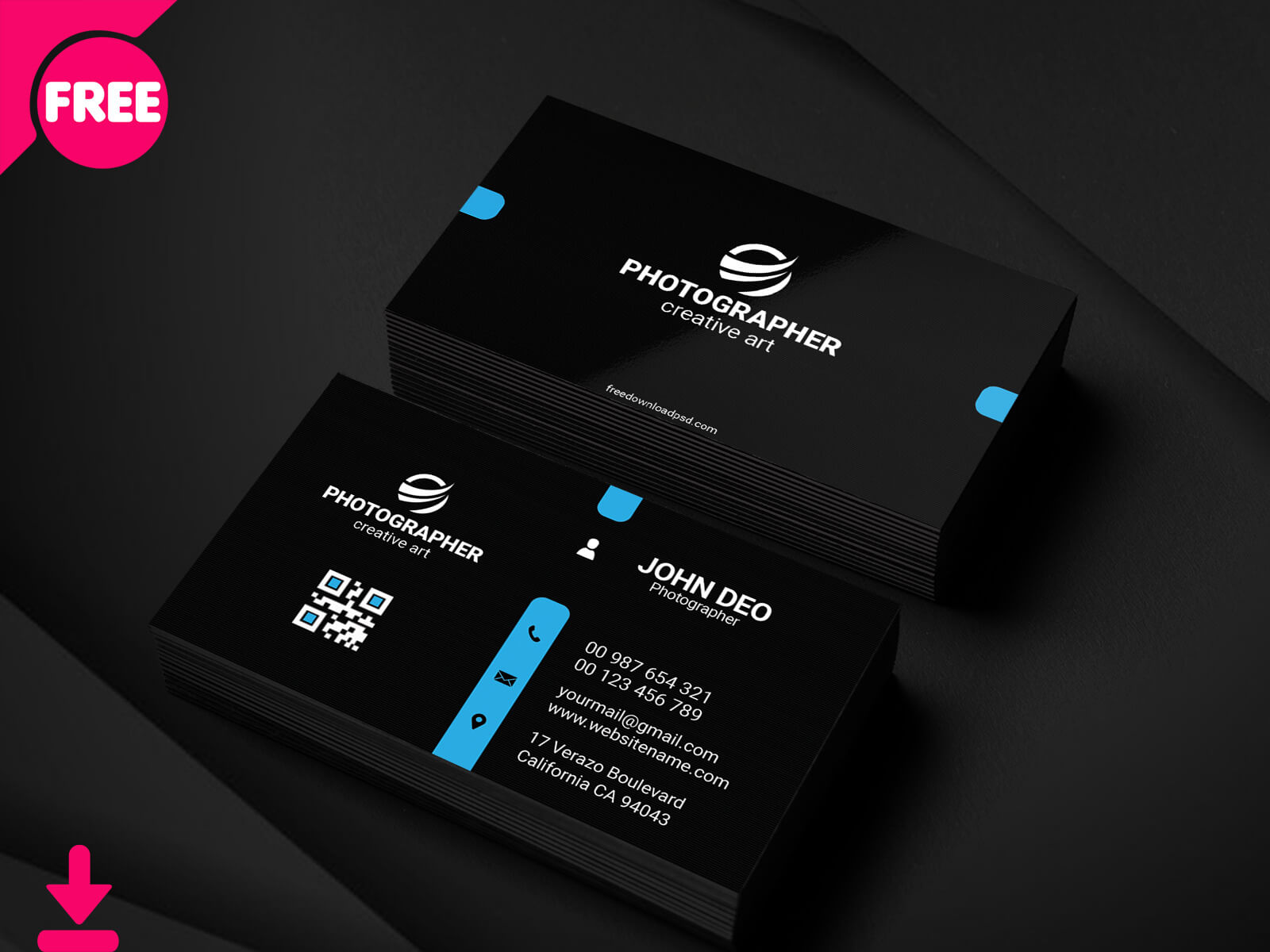 Dribbble - Free Personal Business Card Psd Template Cover Regarding Free Personal Business Card Templates