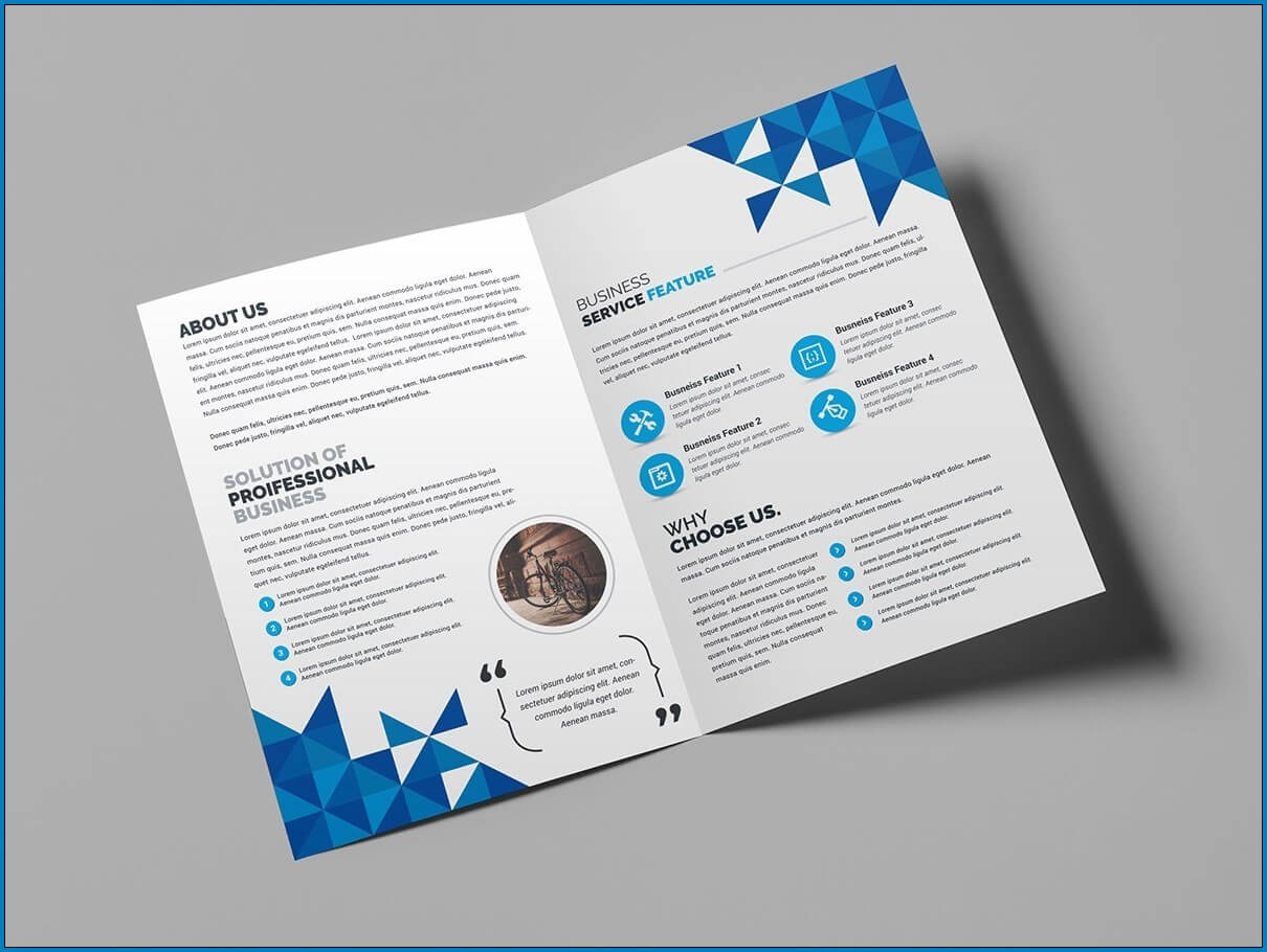 √ Free Printable Bi Fold Brochure Template | Templateral Regarding 2 Fold Brochure Template Free