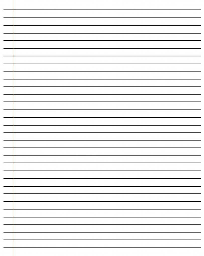 ❤️20+ Free Printable Blank Lined Paper Template In Pdf❤️ For Ruled Paper Word Template