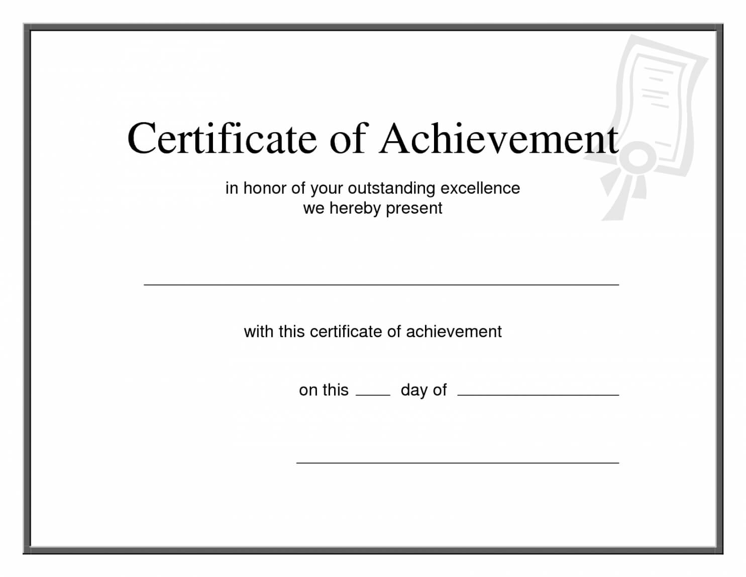 Editable 25 Images Of Printable Promotion Certificate In Promotion Certificate Template